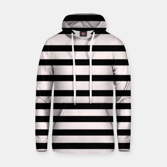Thumbnail image of Black and pearly white stripes  Cotton hoodie, Live Heroes