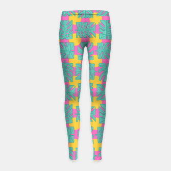 Thumbnail image of Party palms Girl's leggings, Live Heroes