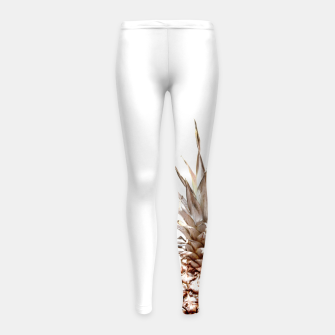Thumbnail image of Two pineapples Girl's leggings, Live Heroes