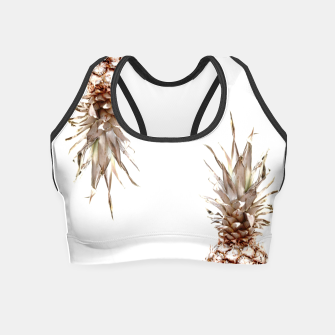 Thumbnail image of Two pineapples Crop Top, Live Heroes