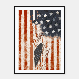 Miniatur Liberty  Framed poster, Live Heroes