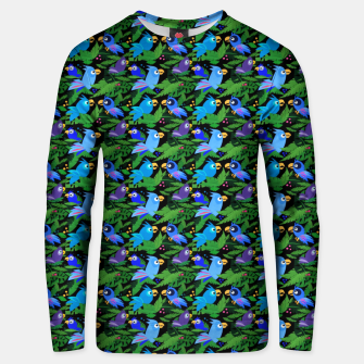 Thumbnail image of Blue Jungle Birds – Cotton sweater, Live Heroes