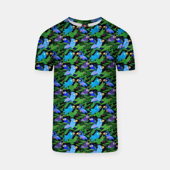 Blue Jungle Birds – T-shirt thumbnail image