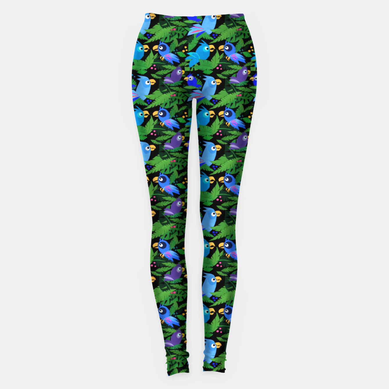 Image of Blue Jungle Birds – Leggings - Live Heroes
