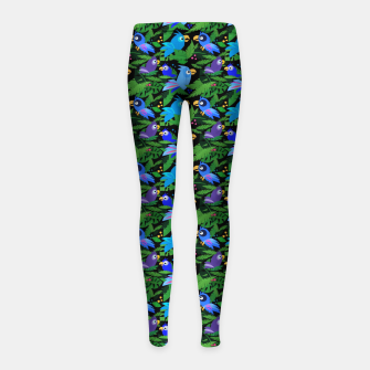 Blue Jungle Birds – Girl's leggings thumbnail image