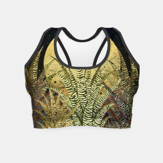 "Miniaturka ""GOLDEN ALOE ZEBRA MIDNIGHT SUN"" Crop Top, Live Heroes"