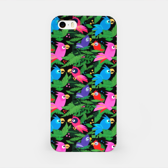 Miniatur Pink Jungle Birds – iPhone Case, Live Heroes
