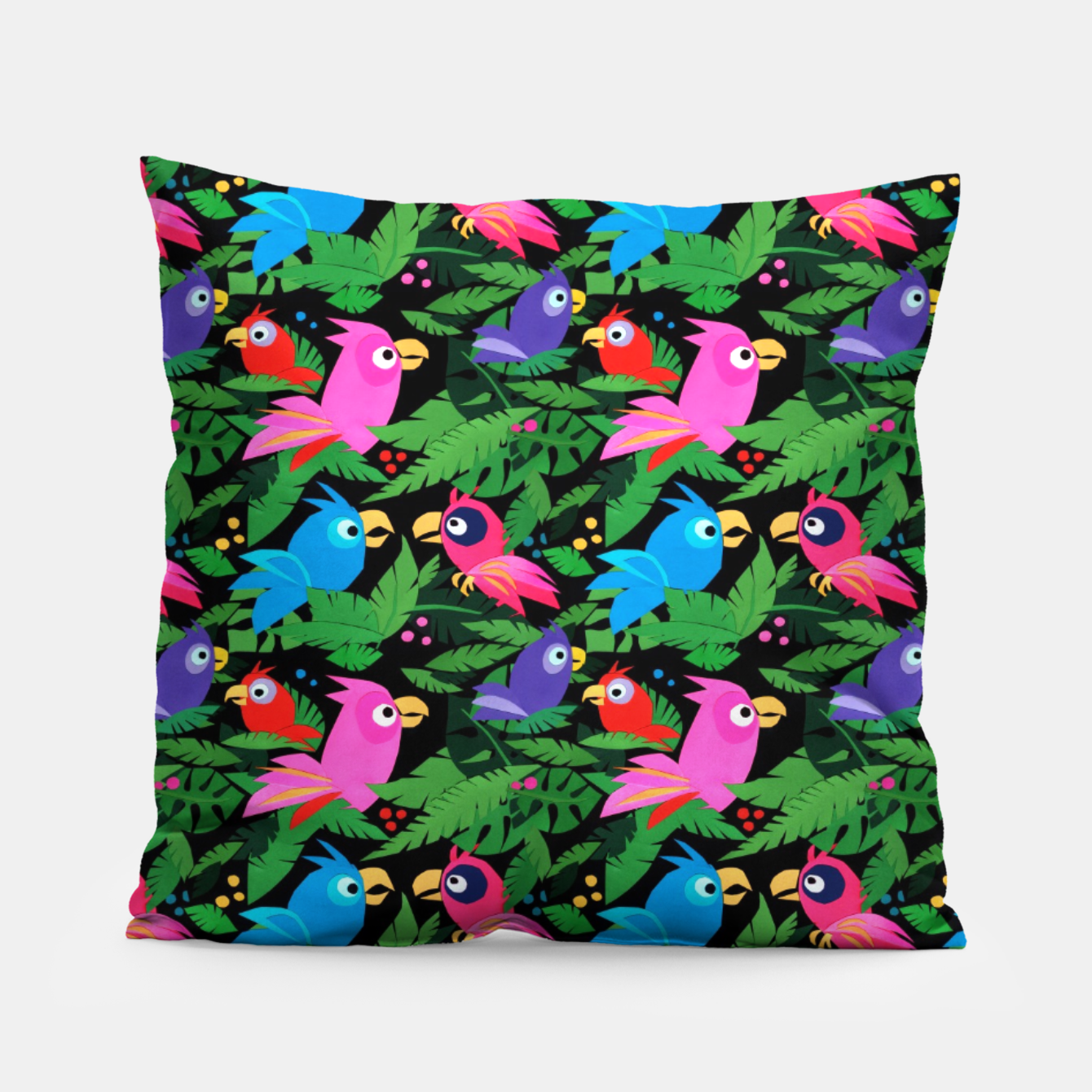 Image of Pink Jungle Birds – Pillow - Live Heroes