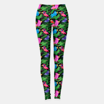 Miniatur Pink Jungle Birds – Leggings, Live Heroes