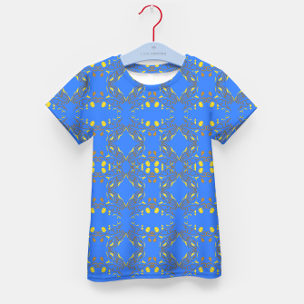 Thumbnail image of Kids t-shirt bluemandalas with GOLD artwork, Live Heroes