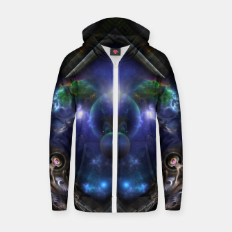 Thumbnail image of Galactic Incognation Cotton zip up hoodie, Live Heroes