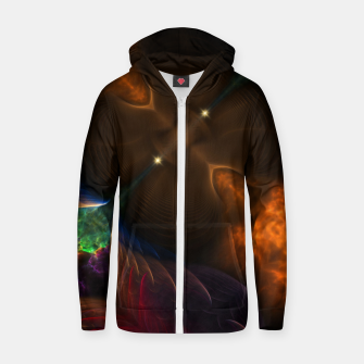 Thumbnail image of Galactic Fire Plume Cotton zip up hoodie, Live Heroes