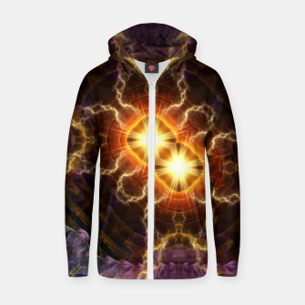 Thumbnail image of Chain Lightning Cotton zip up hoodie, Live Heroes