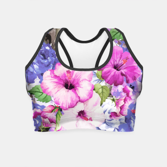 Thumbnail image of Purple Blossom  Crop Top, Live Heroes