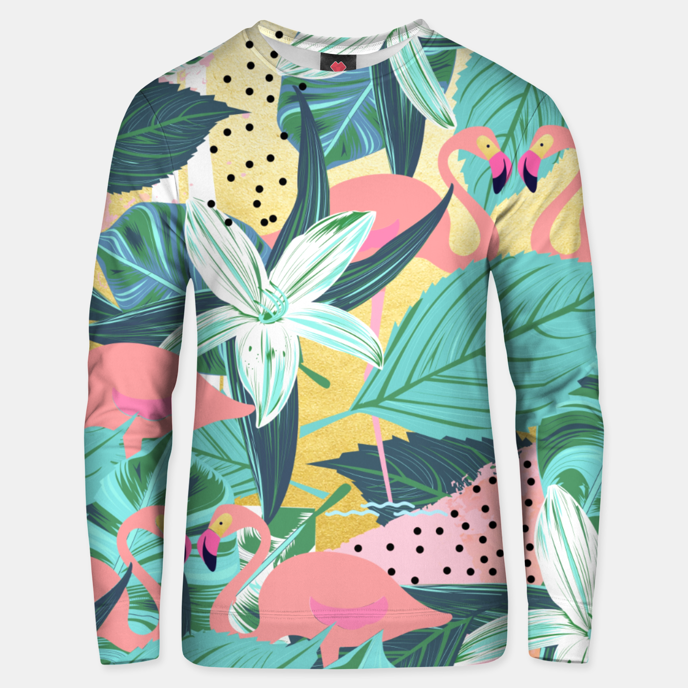 Foto Flamingo Tropical Cotton sweater - Live Heroes
