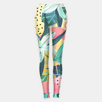 Flamingo Tropical Leggings Bild der Miniatur