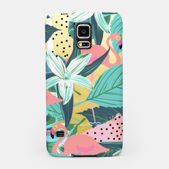 Flamingo Tropical Samsung Case Bild der Miniatur