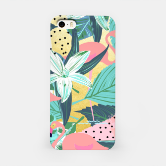 Flamingo Tropical iPhone Case Bild der Miniatur
