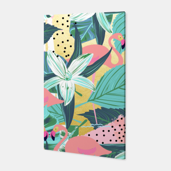 Flamingo Tropical Canvas Bild der Miniatur