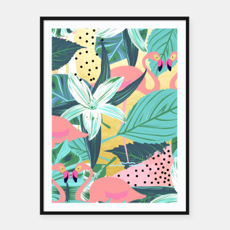 Flamingo Tropical Framed poster Bild der Miniatur