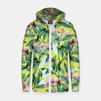 Floral Cure Cotton zip up hoodie Bild der Miniatur