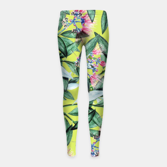 Floral Cure Girl's leggings Bild der Miniatur