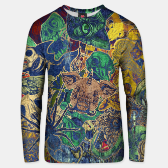 Thumbnail image of Second Color Stickers Cotton sweater, Live Heroes