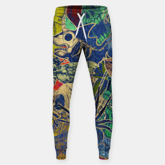 Thumbnail image of Second Color Stickers Cotton sweatpants, Live Heroes