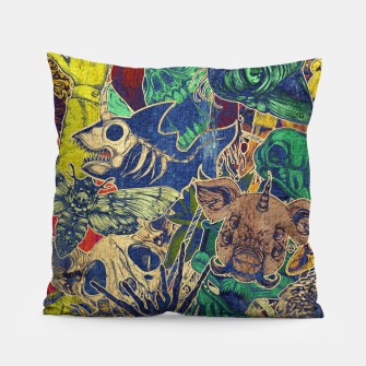 Thumbnail image of Second Color Stickers Pillow, Live Heroes