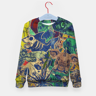 Thumbnail image of Second Color Stickers Kid's sweater, Live Heroes