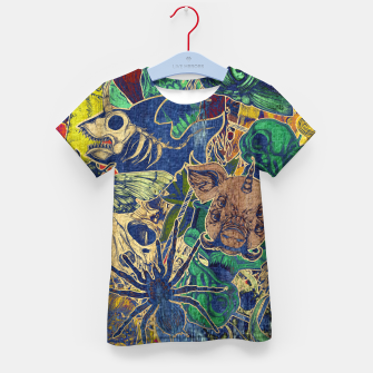 Thumbnail image of Second Color Stickers Kid's t-shirt, Live Heroes