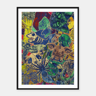 Thumbnail image of Second Color Stickers Framed poster, Live Heroes