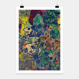 Thumbnail image of Second Color Stickers Poster, Live Heroes