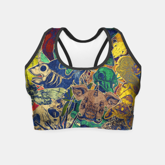 Thumbnail image of Second Color Stickers Crop Top, Live Heroes