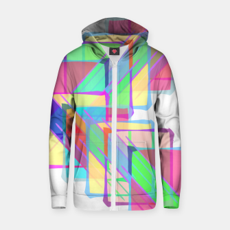 Thumbnail image of Stained Glass Cotton zip up hoodie, Live Heroes