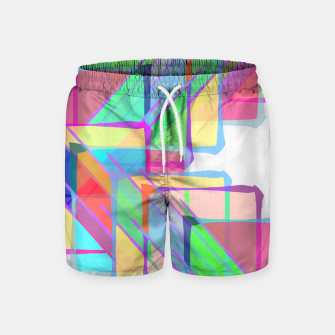 Thumbnail image of Stained Glass Swim Shorts, Live Heroes