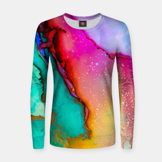 Thumbnail image of Oil Slick Woman cotton sweater, Live Heroes