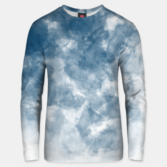 Thumbnail image of Blue Watercolour Effect Cotton sweater, Live Heroes