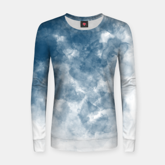 Thumbnail image of Blue Watercolour Effect Woman cotton sweater, Live Heroes