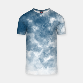 Thumbnail image of Blue Watercolour Effect T-shirt, Live Heroes
