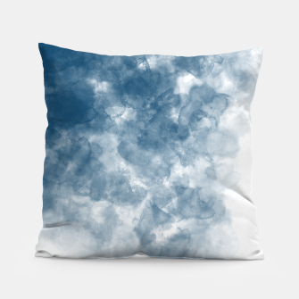 Thumbnail image of Blue Watercolour Effect Pillow, Live Heroes