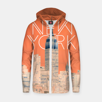 The Big Apple Cotton zip up hoodie miniature