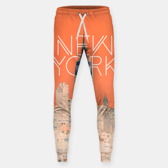 The Big Apple Cotton sweatpants miniature