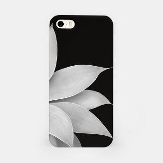 Thumbnail image of Agave Finesse #2 Gray Agave Plant on Black Background #tropical #decor #art iPhone-Hülle, Live Heroes