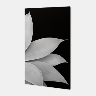 Thumbnail image of Agave Finesse #2 Gray Agave Plant on Black Background #tropical #decor #art Canvas, Live Heroes