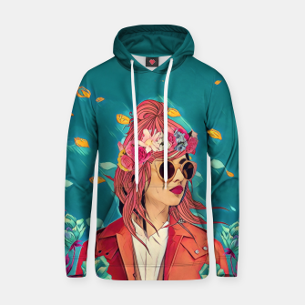 Blossom winds Cotton hoodie thumbnail image