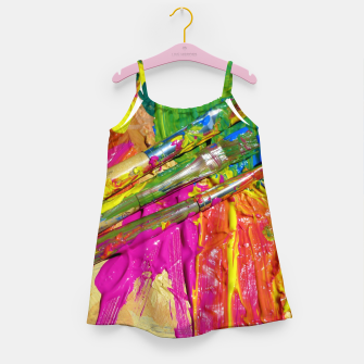 Thumbnail image of Paint Brush Colourful Art Design Girl's dress, Live Heroes