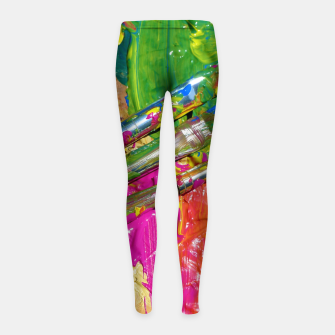 Thumbnail image of Paint Brush Colourful Art Design Girl's leggings, Live Heroes