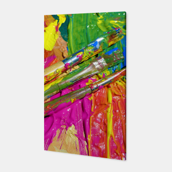 Thumbnail image of Paint Brush Colourful Art Design Canvas, Live Heroes