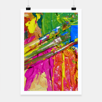 Thumbnail image of Paint Brush Colourful Art Design Poster, Live Heroes